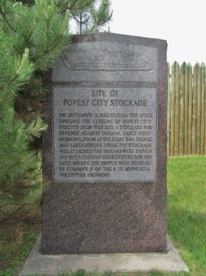 Site of Forest City Stockade Marker image. Click for full size.