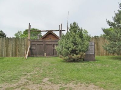 Forest City Stockade and Marker image. Click for full size.