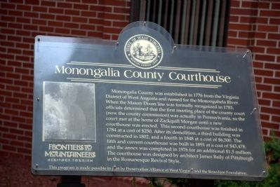 Monongalia County Courthouse Marker image. Click for full size.