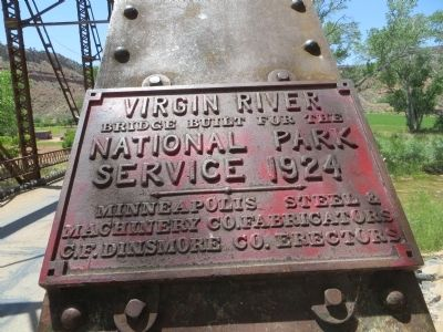 Virgin River Bridge Marker image. Click for full size.
