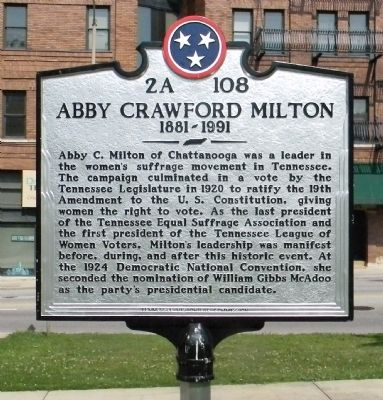 Abby Crawford Milton Marker image. Click for full size.