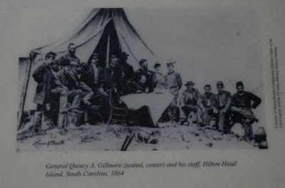 General Quincy A. Gillmore (seated, center) and his staff, Hilton Head Island, South Carolina, 1864 image. Click for full size.