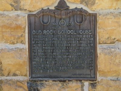 Old Rock Schoolhouse Marker image. Click for full size.