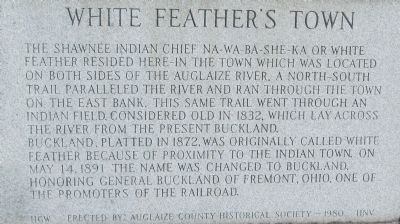 White Feather's Town Marker image. Click for full size.