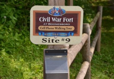 Civil War Fort at Boonesboro image. Click for full size.