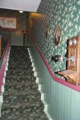 Jeffery Hotel Interior Stairs image. Click for full size.