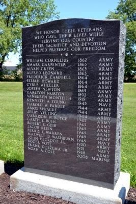 Geib Veterans Memorial Marker image. Click for full size.