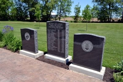 Tablets Surrounding Original Memorial image. Click for full size.