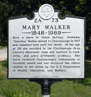 Mary Walker Marker image. Click for full size.
