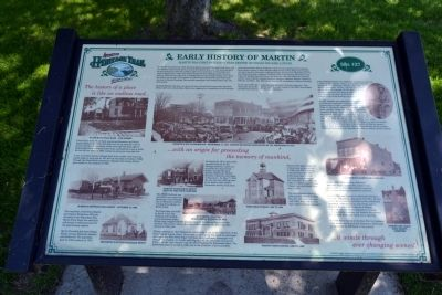 Early History of Martin Marker image. Click for full size.
