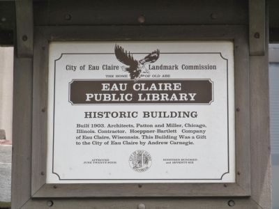 Eau Claire Public Library Marker image. Click for full size.