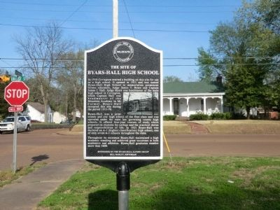 The Site of Byars-Hall High School Marker image. Click for full size.