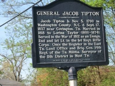 General Jacob Tipton Marker image. Click for full size.
