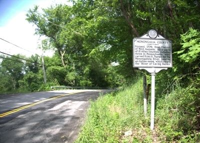 Marion County/Monongalia County Marker image. Click for full size.