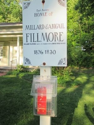 Front Sign Post Millard Fillmore House image. Click for full size.