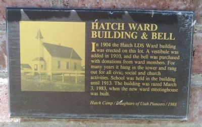Hatch Ward Building and Bell Marker image. Click for full size.