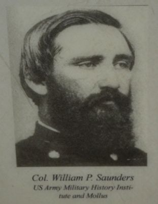 Colonel William P. Saunders, U.S.A. image. Click for full size.