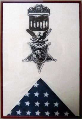 Medal of Honor & Folded Flag image. Click for full size.