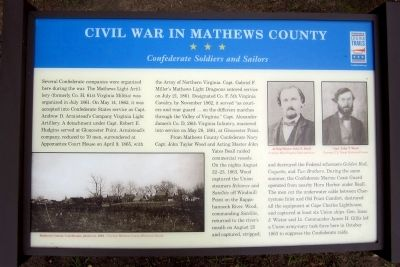 Civil War In Mathews County CWT Marker image. Click for full size.