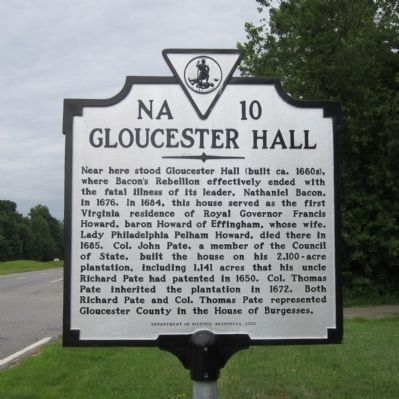 Gloucester Hall Marker image. Click for full size.