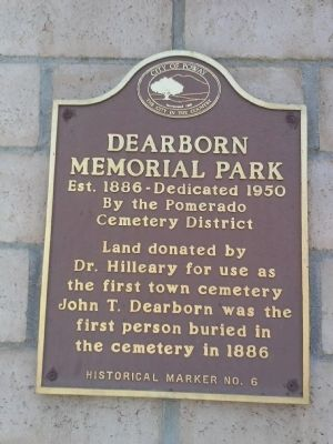 Dearborn Memorial Park Marker image. Click for full size.