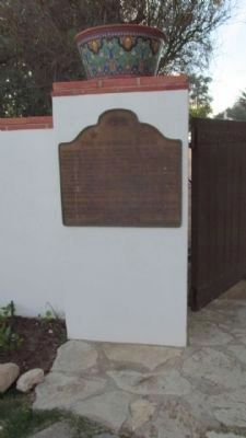 The Adamson House Marker image. Click for full size.