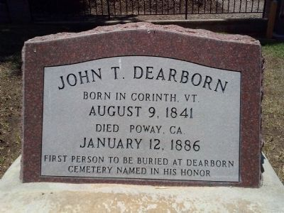 John Dearborn Headstone image. Click for full size.