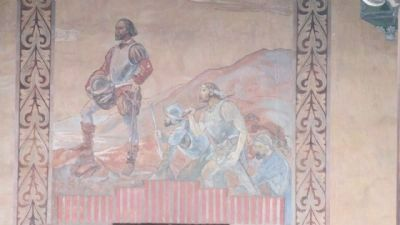 Mural of Cabrillo Located on the Pool House image. Click for full size.