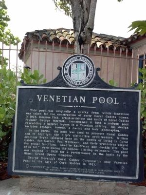 Venetian Pool Marker image. Click for full size.