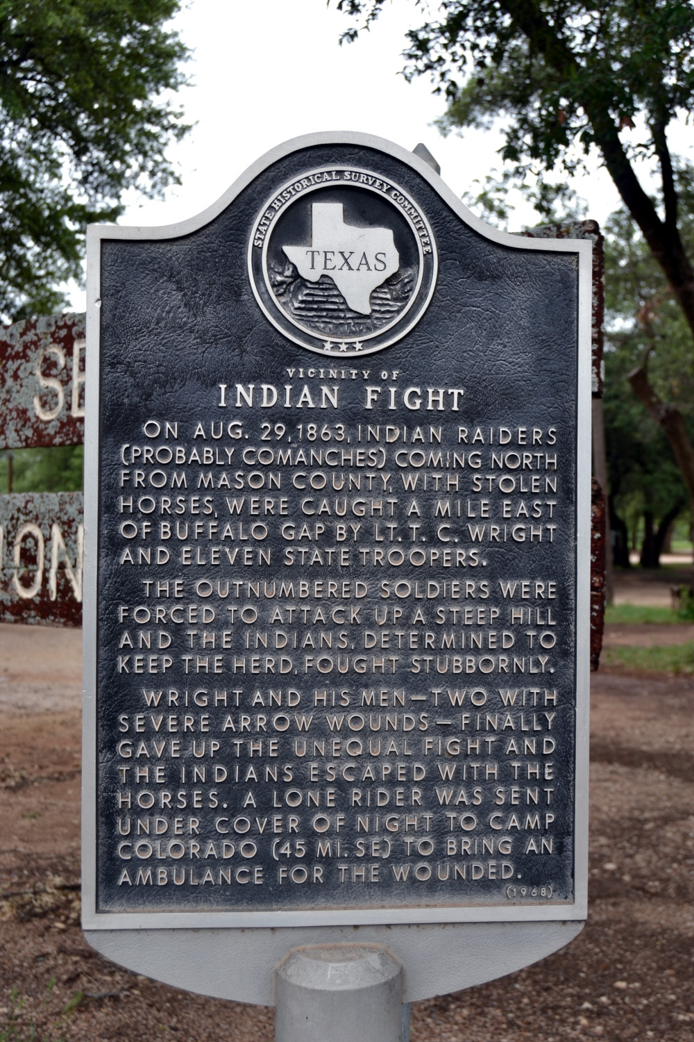 Vicinity of Indian Fight Marker