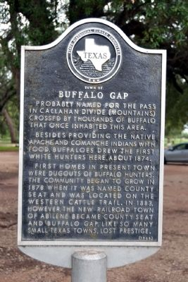 Town of Buffalo Gap Marker image. Click for full size.