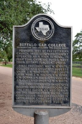 Buffalo Gap College Marker image. Click for full size.
