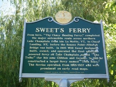 Sweet's Ferry Marker image. Click for full size.