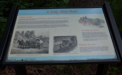 A Long, Steep Road Wayside Exhibit image. Click for full size.