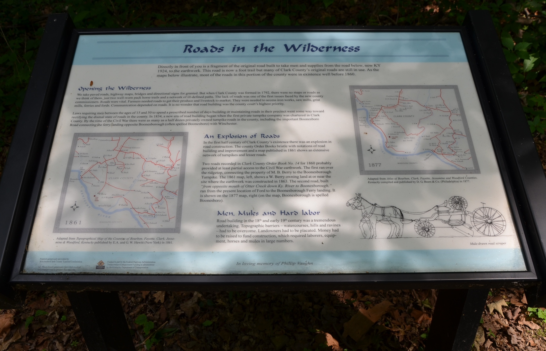 Roads in the Wilderness Wayside Exhibit