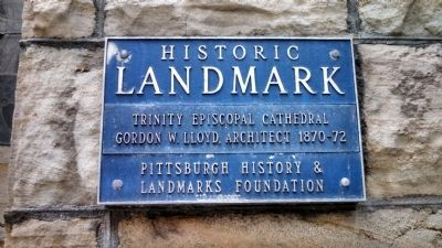 Trinity Church Historic Landmark Plaque image. Click for full size.