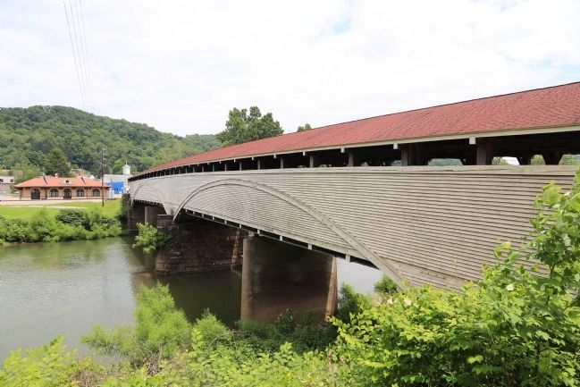 The Covered Bridge and the 1911 Former B&O Railroad Station image. Click for full size.