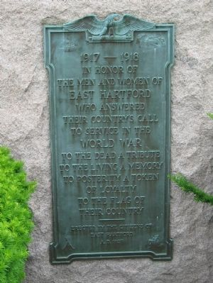 East Hartford World War I Monument image. Click for full size.
