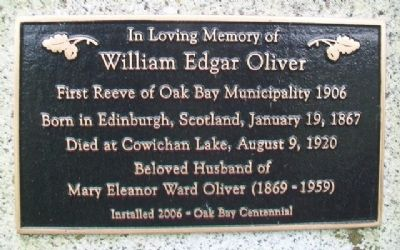 William Edgar Oliver Marker image. Click for full size.