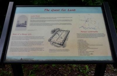 The Quest for Land Wayside Exhibit image. Click for full size.