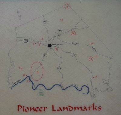Pioneer Landmarks Map image. Click for full size.