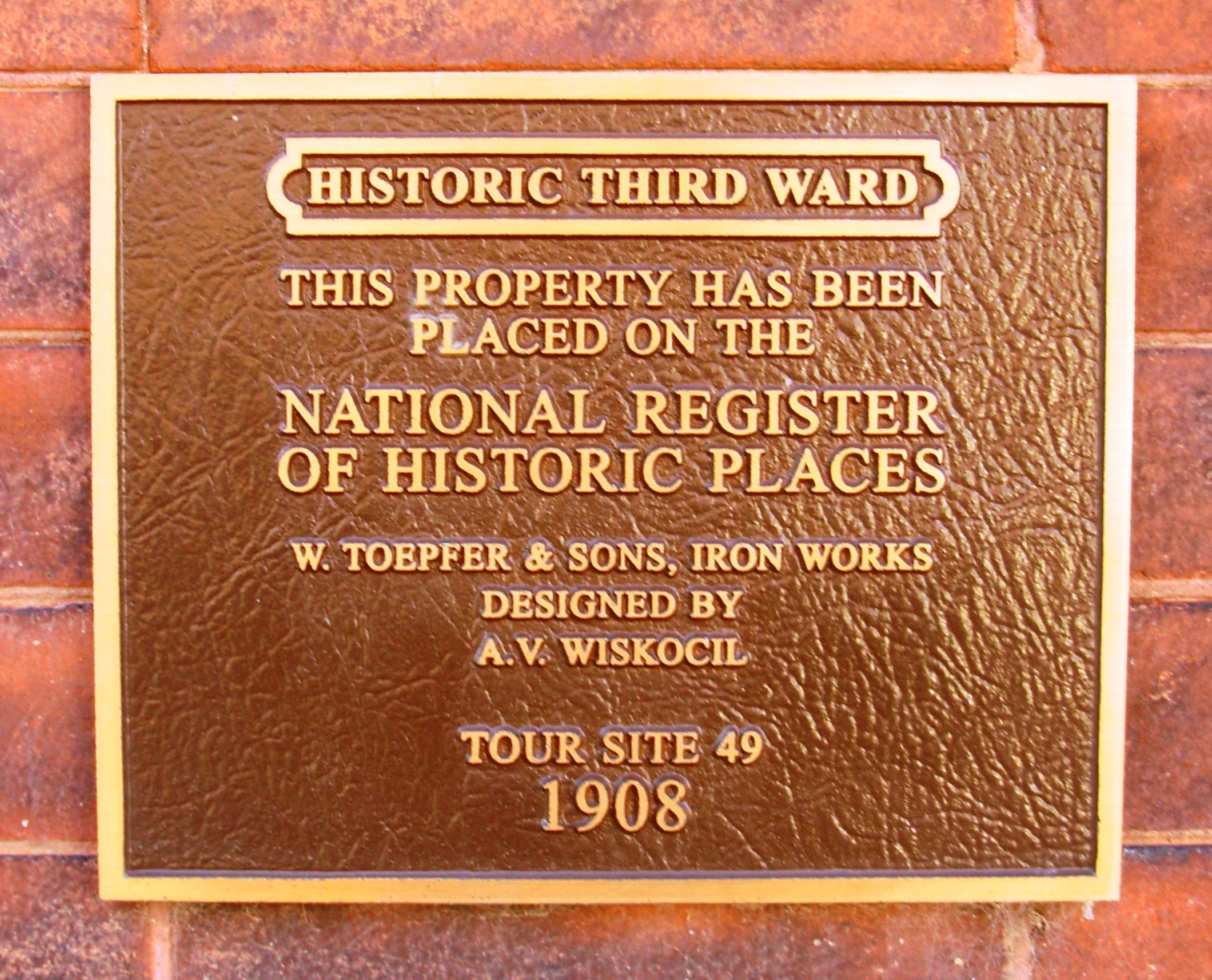 W. Toepfer & Sons, Iron Works Marker
