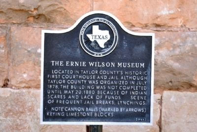 The Ernie Wilson Museum Marker image. Click for full size.
