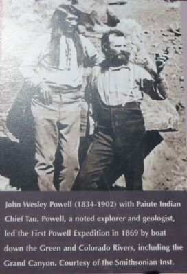 Photo on the Second Powell Expedition Marker image. Click for full size.
