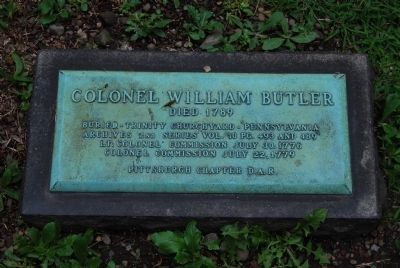 Colonel William Butler Grave image. Click for full size.