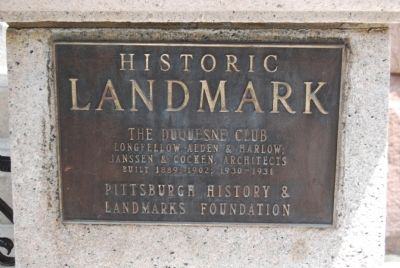 The Duquesne Club Marker image. Click for full size.
