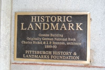 The Granite Building Marker image. Click for full size.
