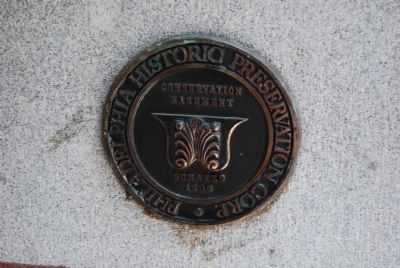 Philadelphia Historic Preservation Corp. plaque image. Click for full size.
