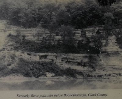 Kentucky River palisades below Boonesborough, Clark County image. Click for full size.