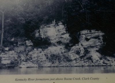 Kentucky River formations just above Boone Creek, Clark County image. Click for full size.